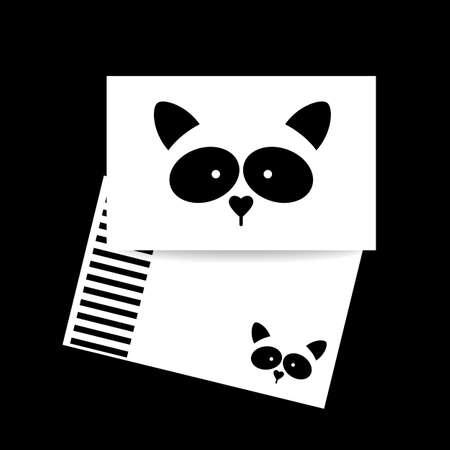 raccoon: Raccoon design card. Raccoon mascot idea