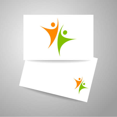business team: Success team  . Business card design.