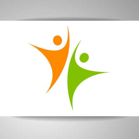 Success-Team-Logo. Menschlichen Charakter-Logo. Teamlogo. Zusammenfassung Menschen Logo. Vector-Logo-Vorlage. Design-Element.