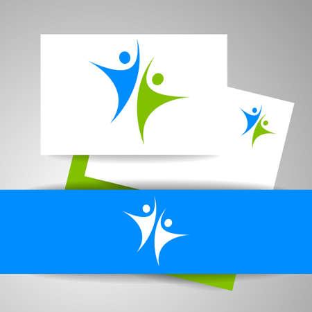 logotipo del equipo éxito. Plantilla de negocio de identidad. logotipo del equipo. logotipo de la gente abstracta. Modelo del vector. elemento de diseño.