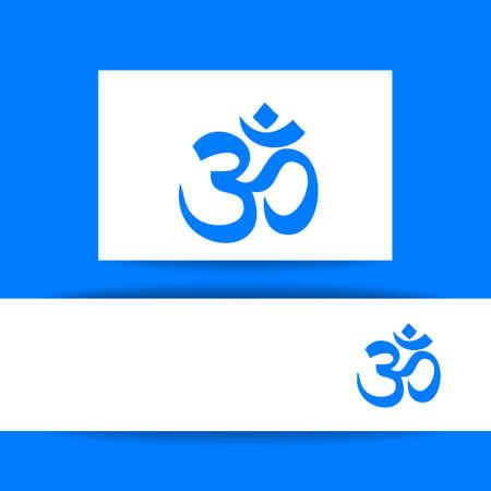 hinduism: Om - hinduism symbol. Concept identity presentation design for yoga studio, meditation center. Vector graphic illustration. Illustration