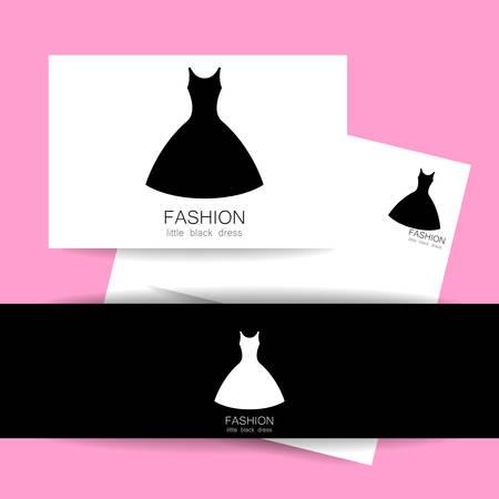 fashion show: Concept identity presentation design for fashion shop, boutique, factory on tailoring, fashion show, dress shop, and etc. Vector graphic illustration. Illustration