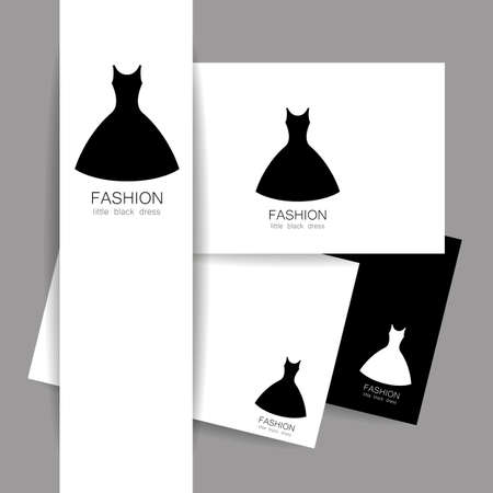 fashion show: Fashion logo template. Concept identity presentation design for fashion shop, boutique, factory on tailoring, fashion show, dress shop, and etc. Vector graphic illustration.