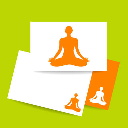 itc: Yoga Lotus. Concept business card design for  yoga center, spa and itc. Yoga, Health Care, Beauty, Spa, Relax, Meditation, Nirvana concept symbol. Vector graphic illustration.