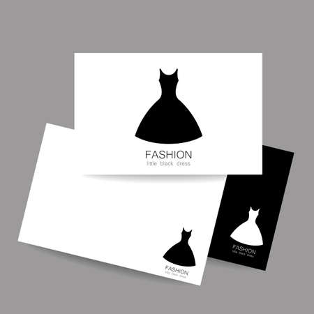 fashion show: Concept business card design for fashion shop, boutique, factory on tailoring, fashion show, dress shop, and etc. Vector graphic illustration.