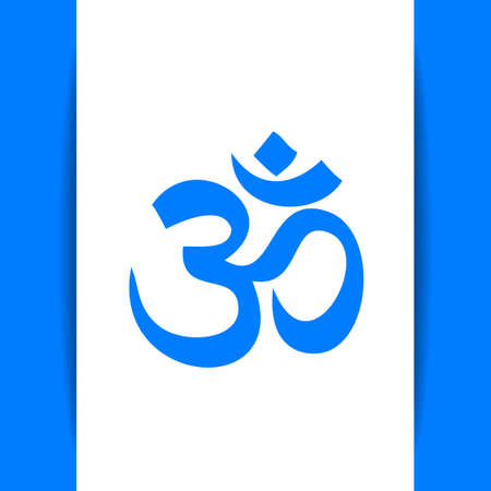 hinduism: Om - hinduism symbol.