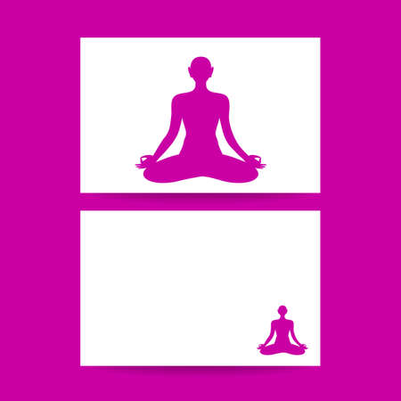 health spa: Yoga Lotus. Concept business card design for  yoga center, spa and itc. Yoga, Health Care, Beauty, Spa, Relax, Meditation, Nirvana concept symbol. Vector graphic illustration.