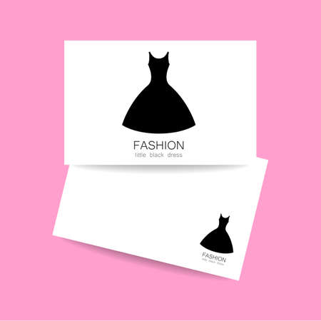 business card design: Concept business card design for fashion shop, boutique, factory on tailoring, fashion show, dress shop, and etc. Vector graphic illustration.