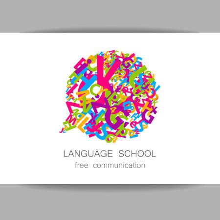 talking dictionary: Language school Illustration