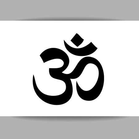 zen aum: Om - hinduism symbol.