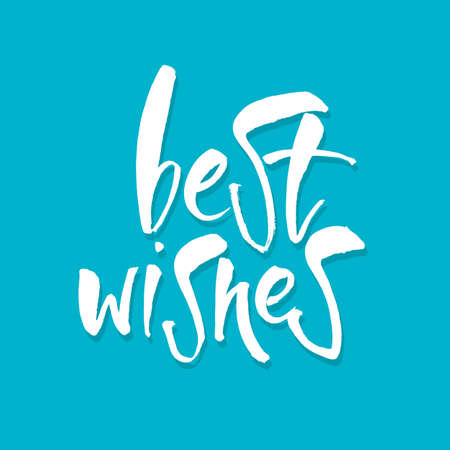 best wishes: BEST WISHES. Lettering.Hand drawn lettering design. Typography for banner, poster or card design. Vector invitation. Illustration