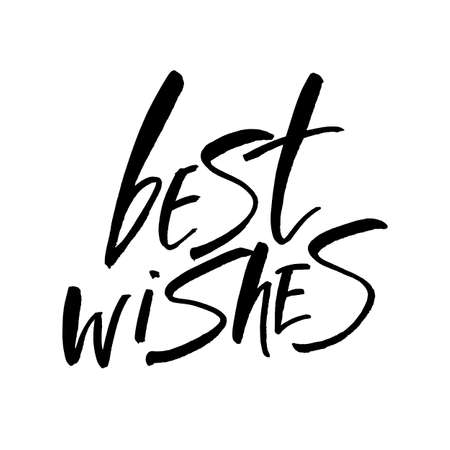 regards: BEST WISHES. Lettering.Hand drawn lettering design. Typography for banner, poster or card design. Vector invitation. Illustration