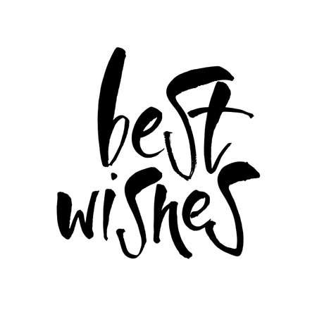 BEST WISHES. Lettering.Hand drawn lettering design. Typography for banner, poster or card design. Vector invitation. Illustration