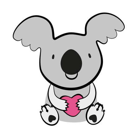marsupial: KOALA. Australian marsupial bear. Vector Illustration. Illustration
