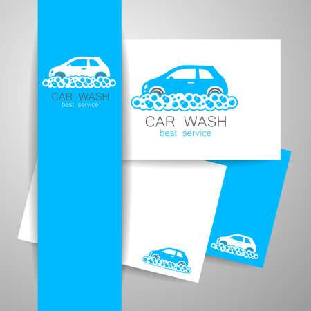 car wash: CAR WASH. Identity template concept car wash service. illustration. Illustration
