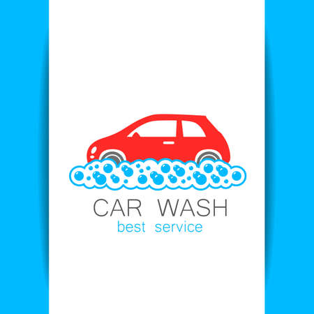 car wash: CAR WASH. Template concept  car wash on white background. illustration. Illustration