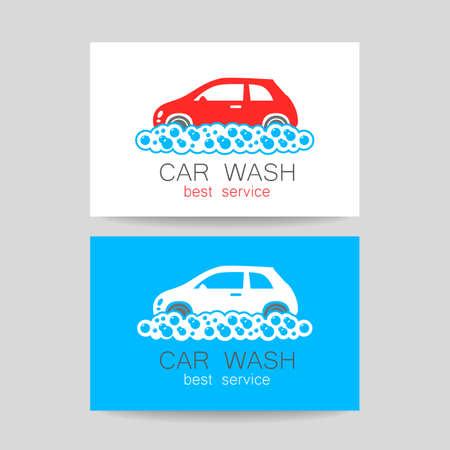 car wash template identity concept car wash service business cards illustration stock - Car Wash Business Cards