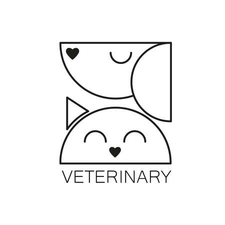 pet cat: VETERINARY. design template for veterinary clinic. Home pets . Dog and cat concept for design of veterinary, pet shop, vetclinic, animal care, or other pet help and etc. design. Illustration