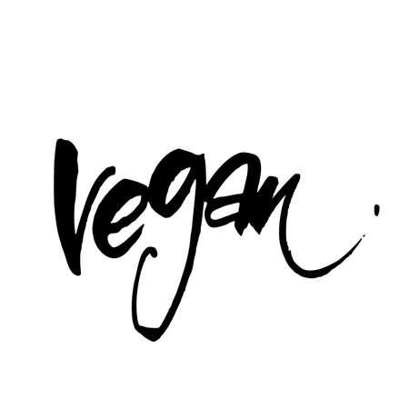 stamp design: Vegan. Hand lettering. Design for  stamp, badge, label.