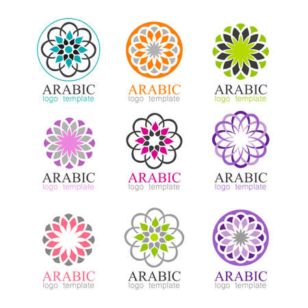 Mandalas collection. Arabic ornament vector round pattern elements. Illustration