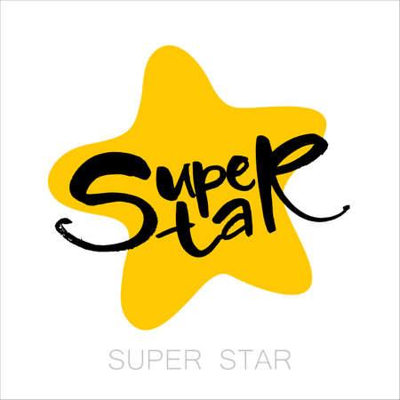 superstar: Super star card. Illustration