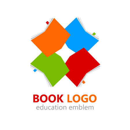 Books with bookmarkers. Education concept. Vector illustration.