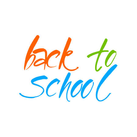 lesson: Back to school, sale retro style elements. Graphic design for poster, advertising.  Vector illustration.