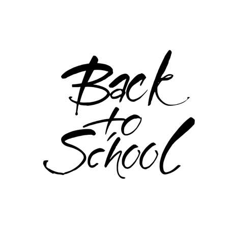 board: BACK TO SCHOOL. Hand drawn lettering. Vector illustration. Typography print template.