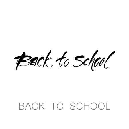 school: BACK TO SCHOOL. Hand drawn lettering. Vector illustration. Typography print template.
