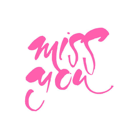 Miss you greeting card with calligraphy vector illustration miss you greeting card with calligraphy vector illustration stock vector 87726623 m4hsunfo
