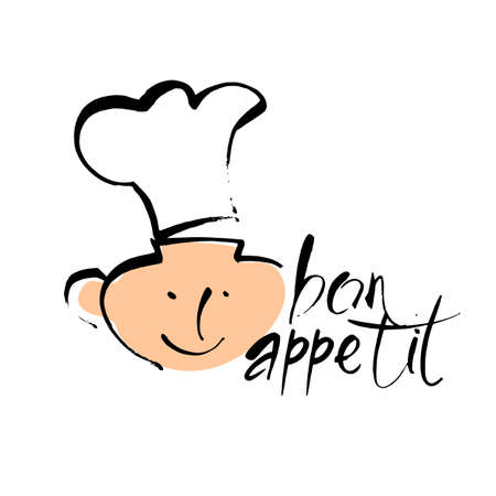 Bon appetit graphic Vector template logo.