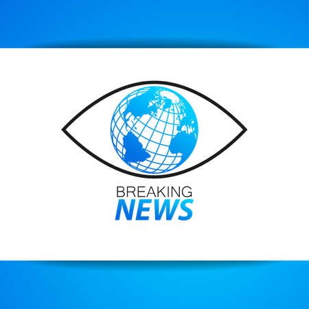 Latest News Label. Breaking News Live on World. Vector Illustration.