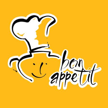 Bon appetit graphic vector template icon. Illustration
