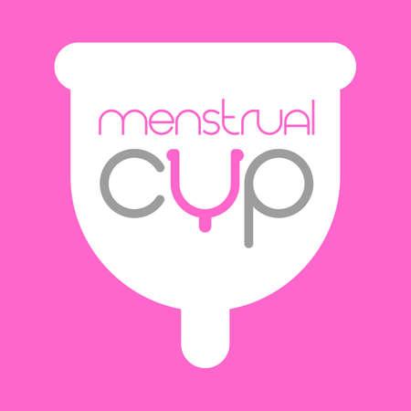 Menstrual cup logo template. Eco-friendly, washable menstrual cup. Logo