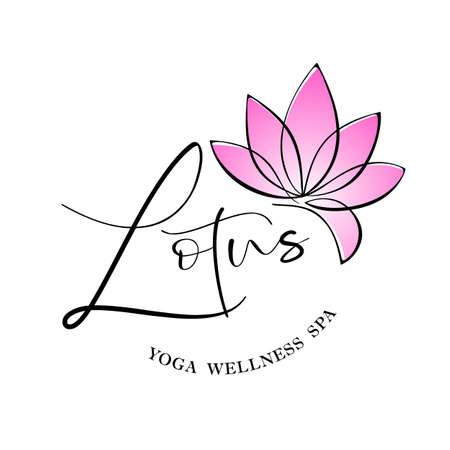 Lotus flower  design. Beauty  template.