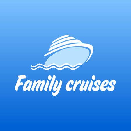 Family cruises.   Design presentation of corporate identity.