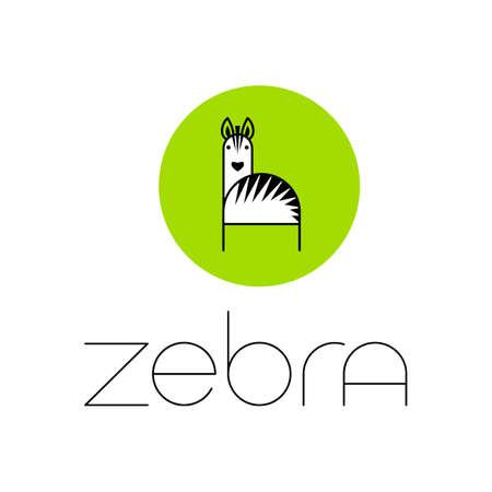 Zebra  Design Inspiration. Illustration template. Ilustração