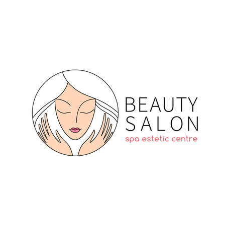 Beauty salon.  template for beauty, fashion and hairstyle related business. Easy to change color, size and text.