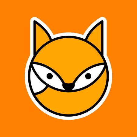 Fox   image. Concept design. Wild Animals. Template. Ilustração