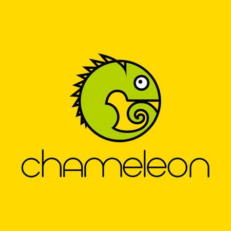 Chameleon   Design template. Vector illustration.