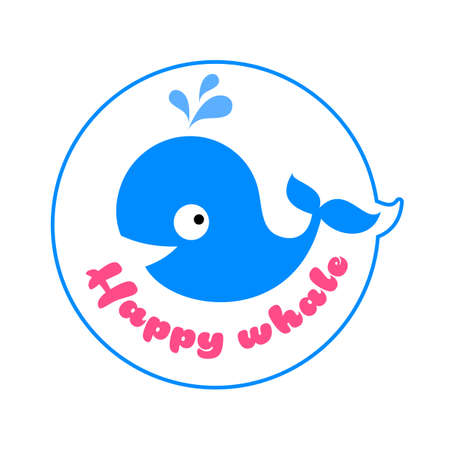 WHALE template. Simple vector illustration for graphic and web design.