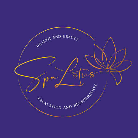 SPA LOTUS. Healthy and beauty. Lotus Flower template. Vetor illustration.