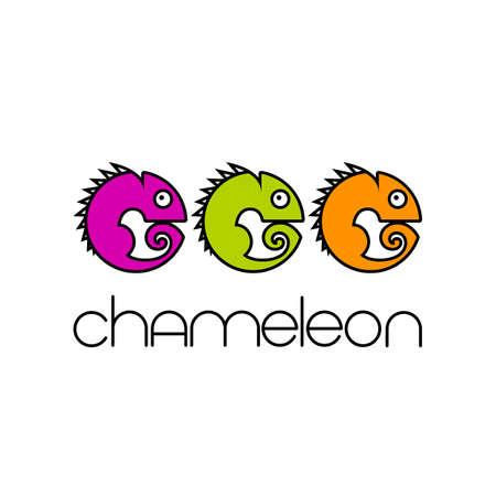 Chameleon  Design template. Colorful Symbol Illustration. Ilustração