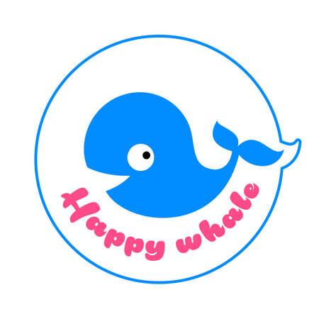 Whale  template vector icon design. Ocean giant