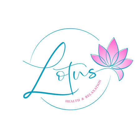 LOTUS. Health and relaxation. Lotus flower logotype design. Nature Logo Vector.