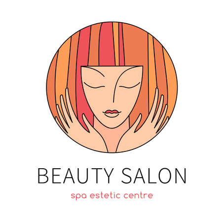Beauty salon. design template for beauty, fashion and hairstyle related business. Easy to change color, size and text.