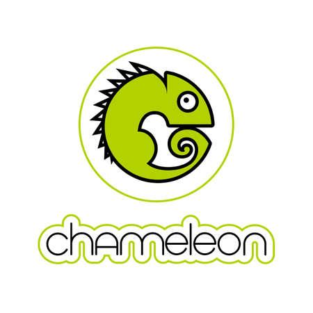 Chameleon icon Design template. Vector illustration.