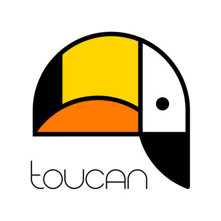 TOUCAN. Tropical bird. Toucan   icon symbol template. Vector illustration.