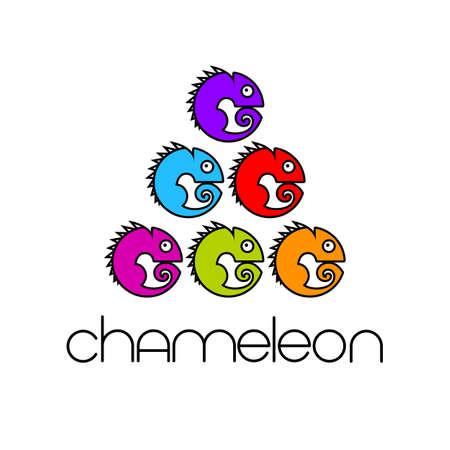 Chameleon   Design template. Colorful Symbol Illustration. 일러스트