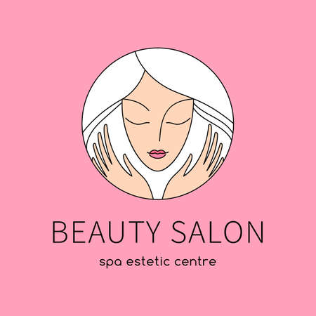 Beauty salon. An elegant design for beauty, fashion and hairstyle related business. Easy to change color, size and text.